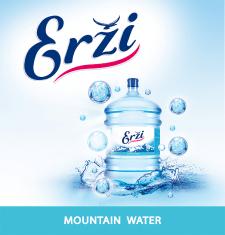 Разработка дизайна природной воды тм Erzi