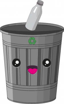 Kawaii ведро для сортировки мусора