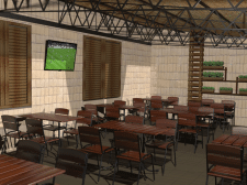 Дизайн уличное кафе 2 этаж летняя площадка