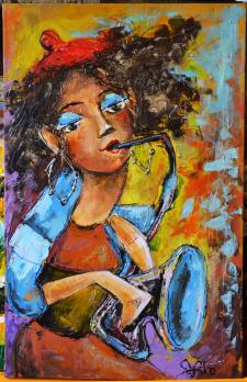 Дівчина, яка грає джаз