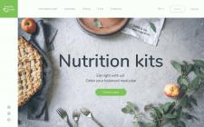 Дизайн сайта для доставки наборов полезной еды