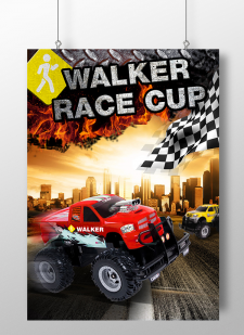 Плакат для соревнований на машинках Walker