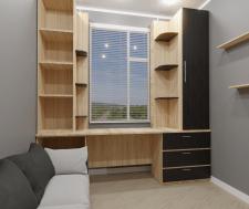 Дизайн и визуализация комнаты для подростка