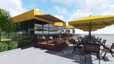 Визуализация проекта летней площадки кафе