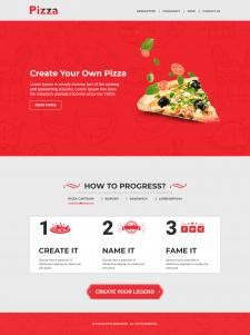 Верстка лендинга pizza