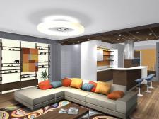 Уютная гостиная для молодой семьи