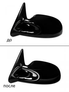 отрисовка автомобильного зеркала