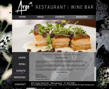 Разработка сайта для Argo Restaurant - Wine bar