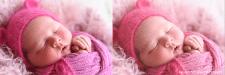 Ретушь новорожденных (до/после)