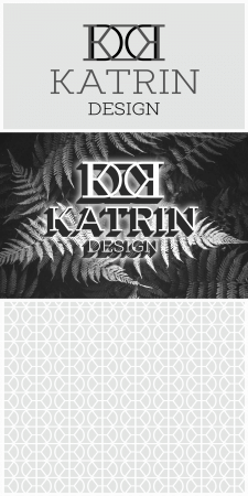 Логотип и паттерн для дизайнера интерьеров, штор