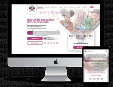 Сайт образовательной блокчейн-платформы
