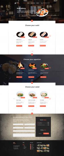 Дизайн доставки японской кухни