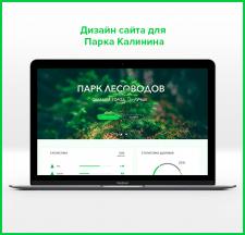 Дизайн сайта для парка Калинина