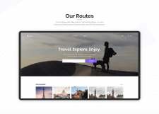 Site and mobile app for travel agency.