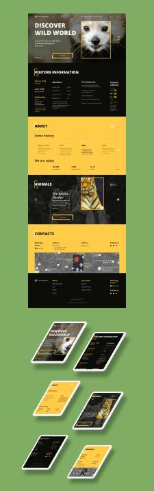 Редизайн сайта зоопарка Tama Zoo