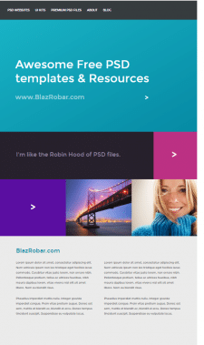 Layout of sites from psd-layouts 1