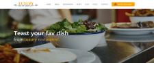 "Landing page ""restaurant"""