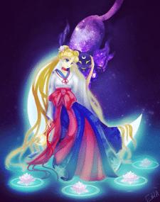 Sailor moon in kimono