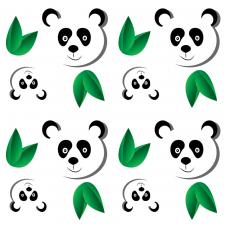 Паттерн панда и листья