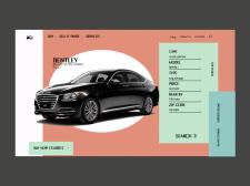 Посадочная страница сайта. Тематика: автомобили