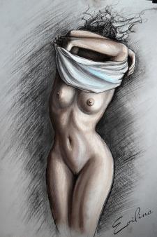 иллюстрация обнаженной