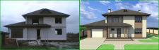 Дизайн фасада частного дома