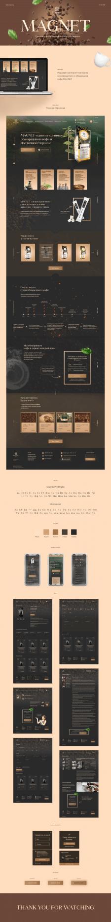 Дизайн сайта продажа/обжарка кофе