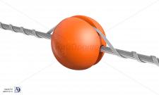 Авиационный заградительный шар-маркер на ЛЭП