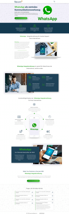 Landing page Whats App