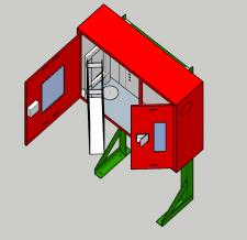 3D моделирование пожарной системы