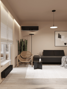 Гостинная зонеа в квартире-студии