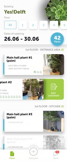 Дизайн приложения по поливке ростений
