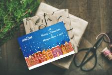 Новогодняя открытка для АЛКОМ