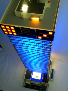 Архитектурный макет небоскрёба в масштабе НО 1:87