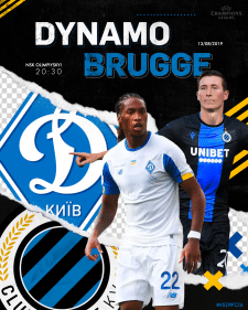 digital art for match day Dynamo VS Brugge