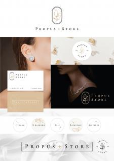 логотип, иконки и визитки для магазина бижутерии