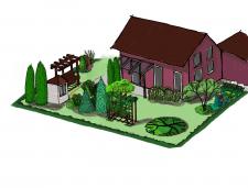 Эскизный проект, ландшафтный дизайн