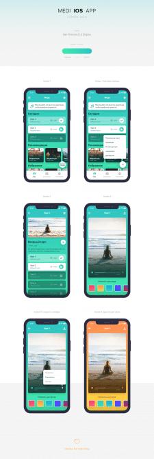 Дизайн мобильного приложения «Меди»