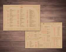 Оформление меню