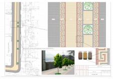 Расскладка тротуарной плитки