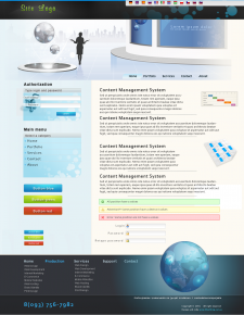 Дизайн для сайта переводческой компании