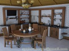 Кухня летняя