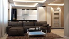 КУХНЯ/гостиная в современном стиле
