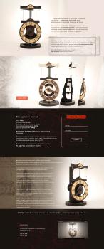 """Сайт-визитка """" Часы Леонардо Да Винчи"""""""