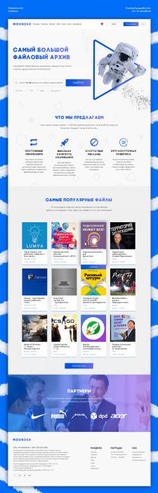 Дизайн + вёрстка главной страницы | Mounder