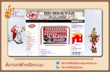 Редизайн сайта хокейного клуба дизайн + верстка