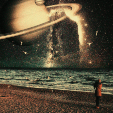 "Коллаж ""Космос и море"""
