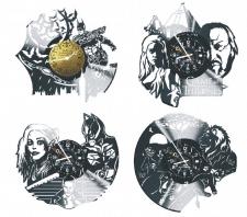 Дизайн часов под винниловые пластинки