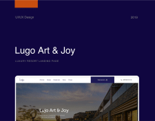 Lujo Art & Joy Premium Resort / Landing Page