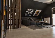 Разработка интерьера помещения на мансардном этаже